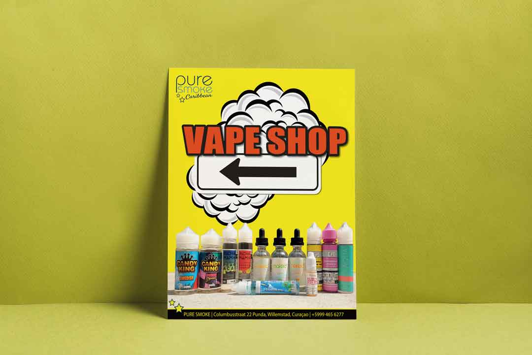 Vape Shop Commercial Poster Design