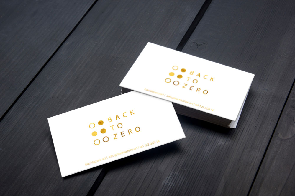 Back to Zero business cards